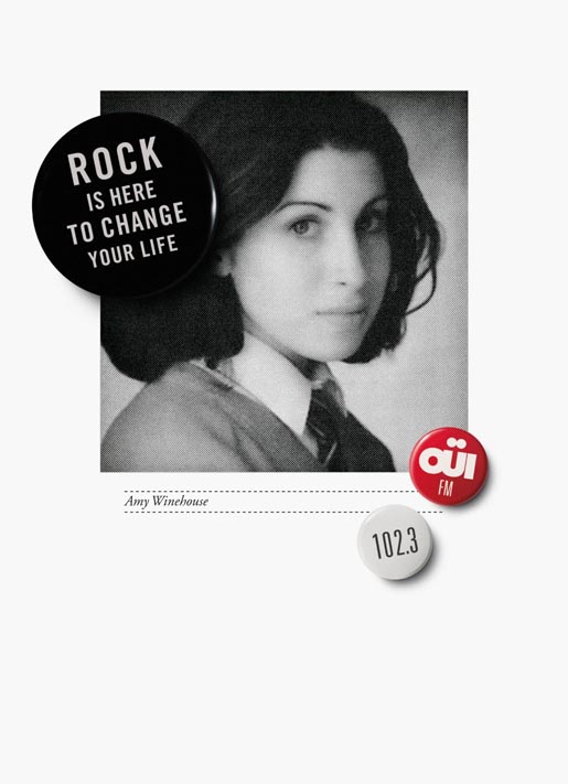 Oui FM Amy Winehouse print advertisement