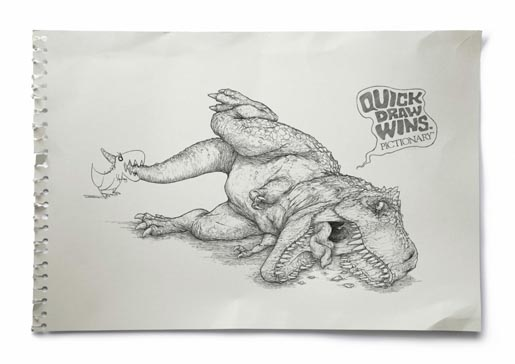 Pictionary Quick Draw Wins T-Rex