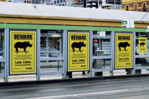 Yarra Trams Beware the Rhino