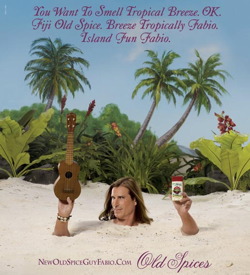 Old Spice Fabio in Fiji ad