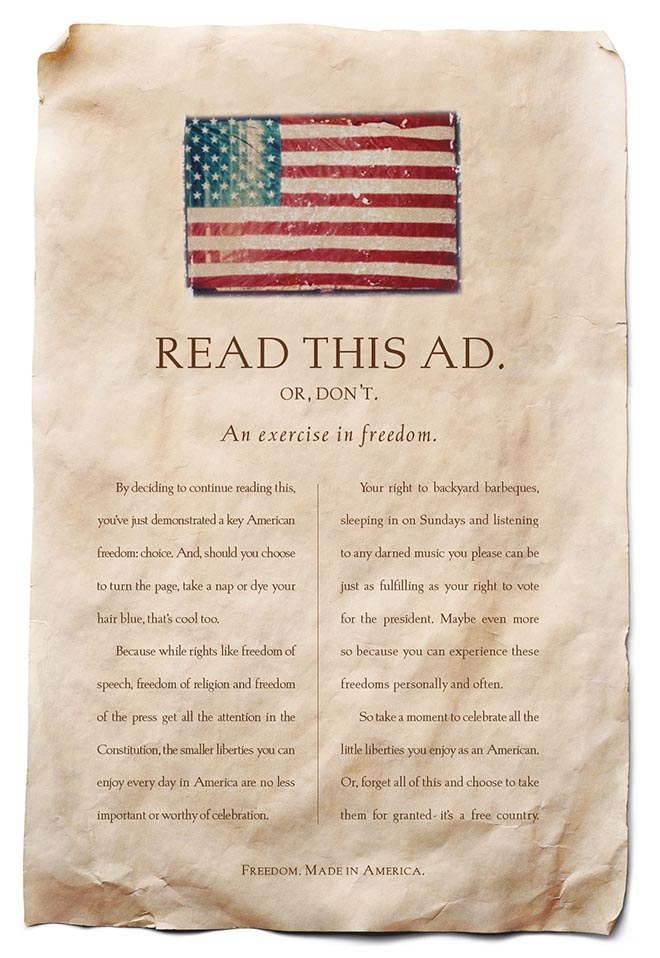 Ad Council Read This Ad