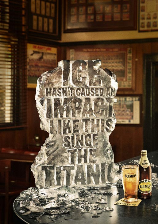 Bulmers Cider on Ice Titanic ad