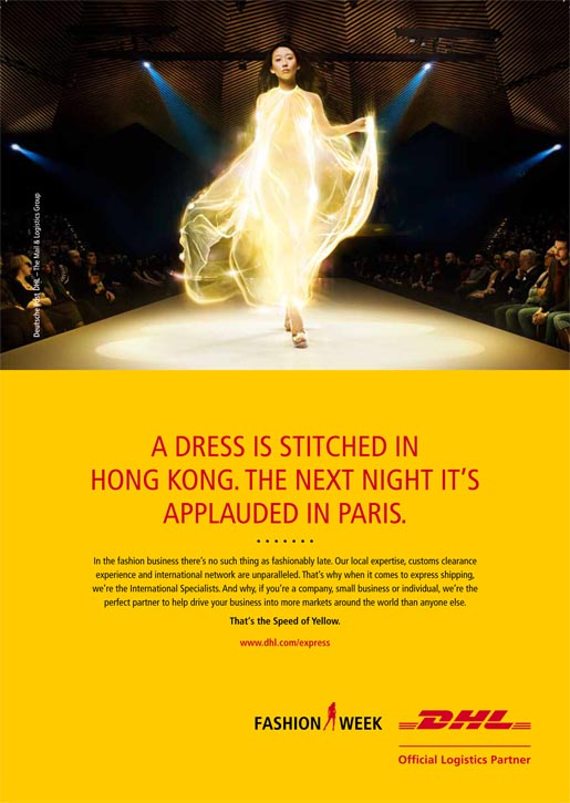 DHL Express Fashion Print Ad