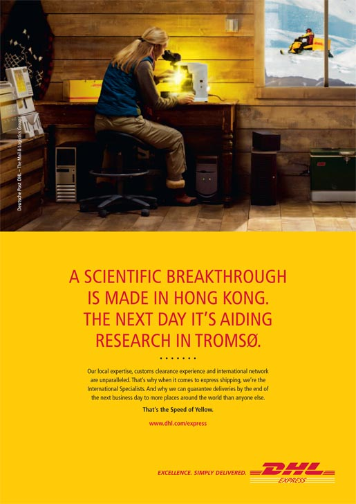 DHL Express Science Print Ad