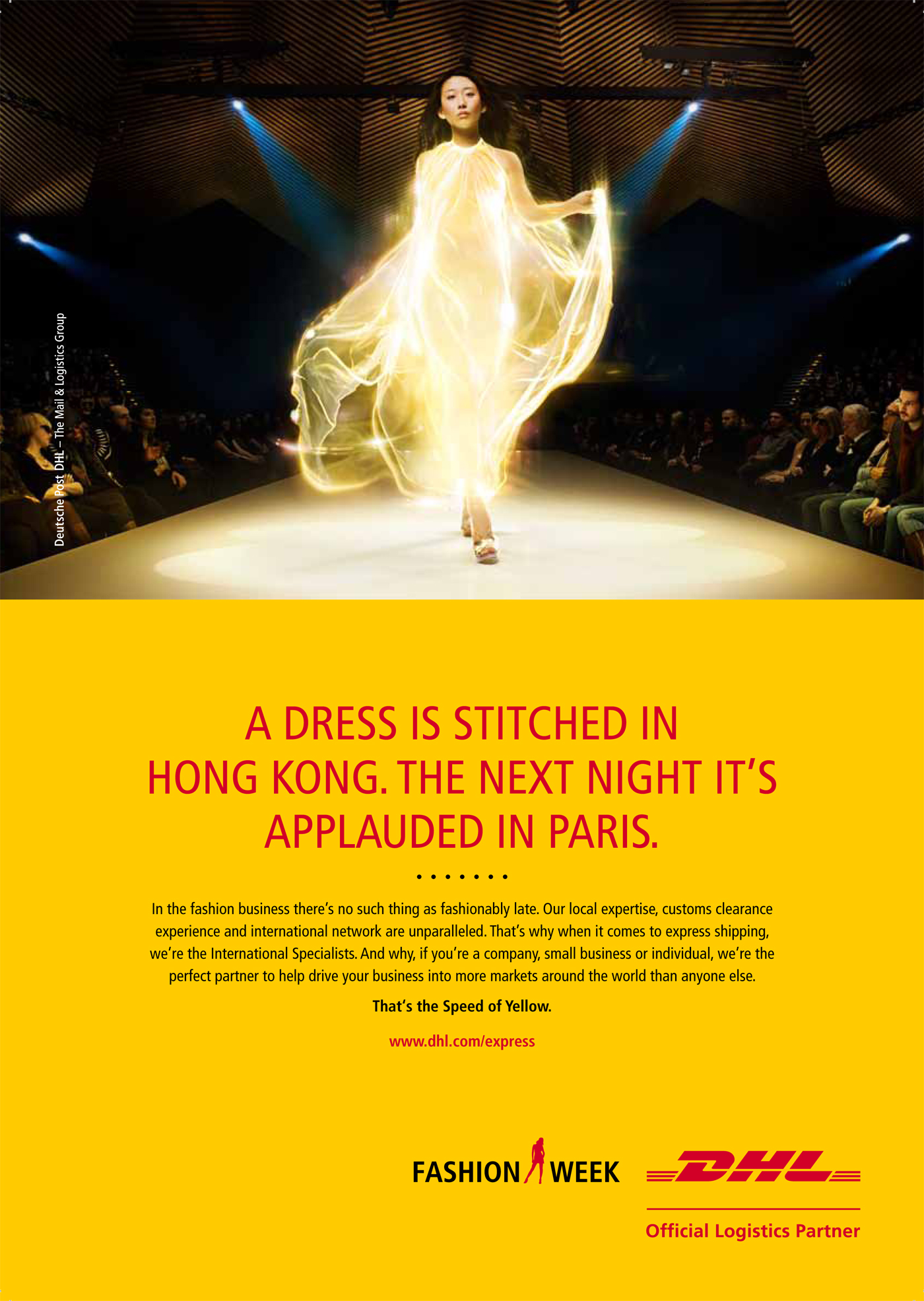 DHL Express Speed of Yellow - The Inspiration Room