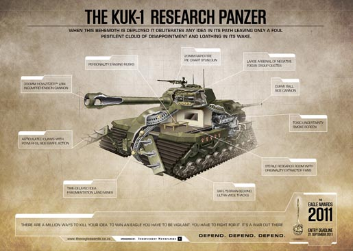 Eagle Awards KUK-1 Research Panzer Tank