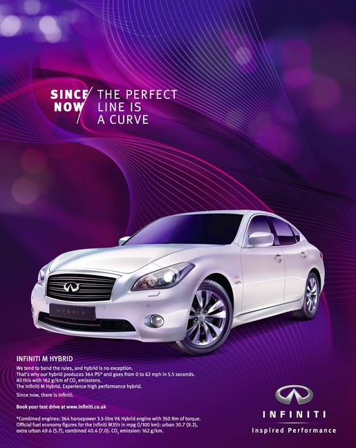 Infiniti Since Now print advertisement