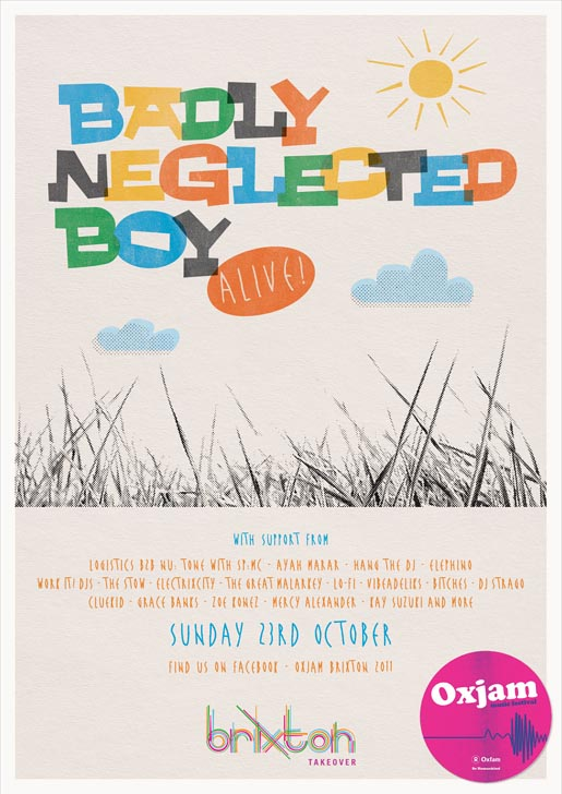 Oxjam Brixton Boy Badly Neglected poster