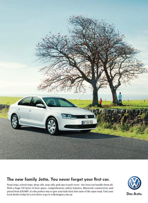 Volkswagen Jetta First Car print ad