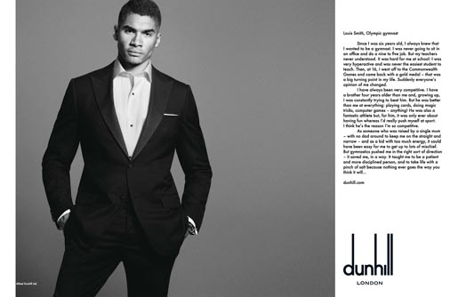 Dunhill Olympics Louis Smith print ad