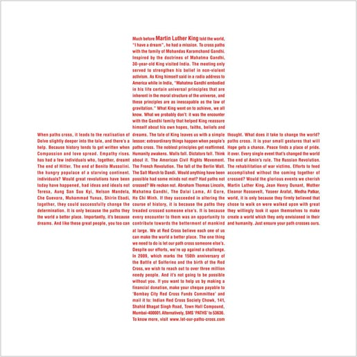 Red Cross Martin Luther King print ad