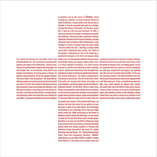 Red Cross Mother Teresa print ad