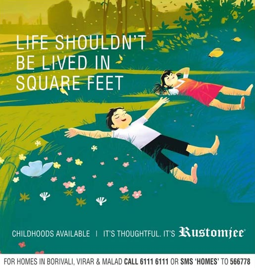Rustomjee Childhood Square Feet outdoor advertisement