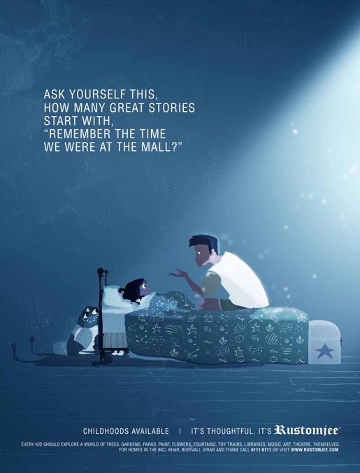 Rustomjee Childhood Stories print advertisement