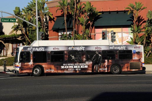 Knotts Berry Farm 40th Haunt Bus Wrap