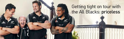 Mastercard Getting tight with the All Blacks Priceless