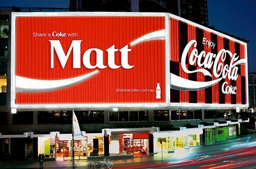 Share A Coke with Matt billboard