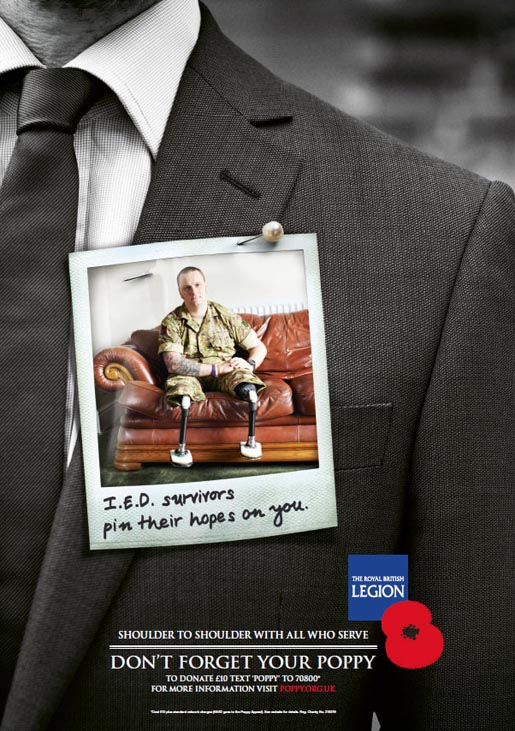 IED Survivors Pin their hopes on you - Poppy Appeal 2012