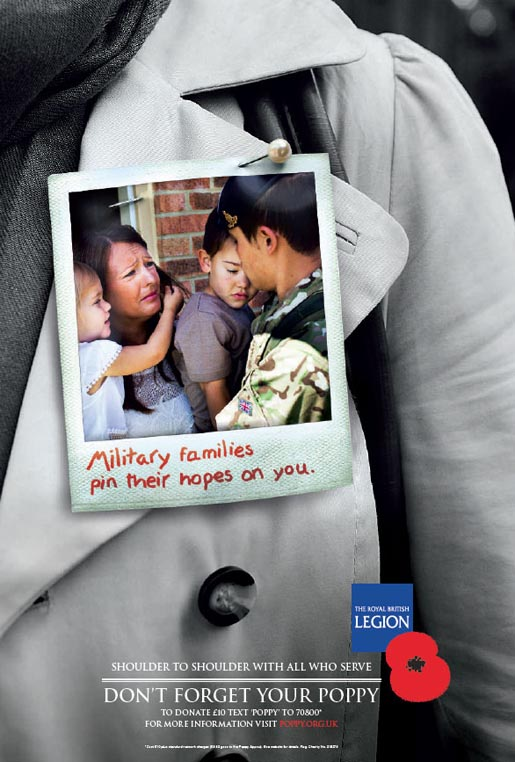 Military Pin their hopes on you - Poppy Appeal 2012