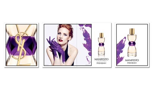 Jessica Chastain in Yves St Laurent Manifesto campaign