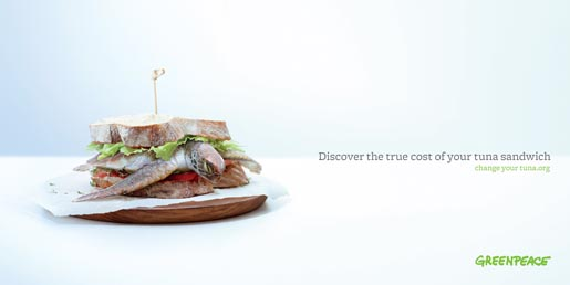 Greenpeace Tuna Sandwich with Turtle