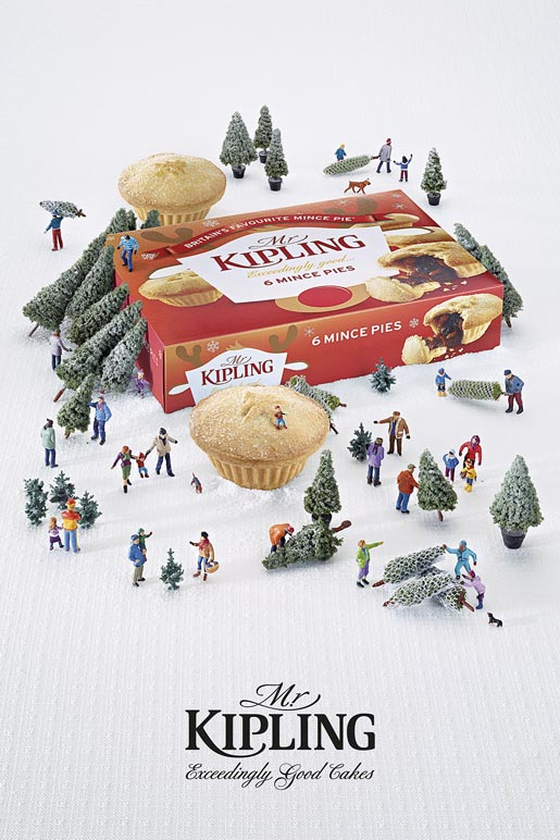 Mr Kipling Miniature Christmas Trees