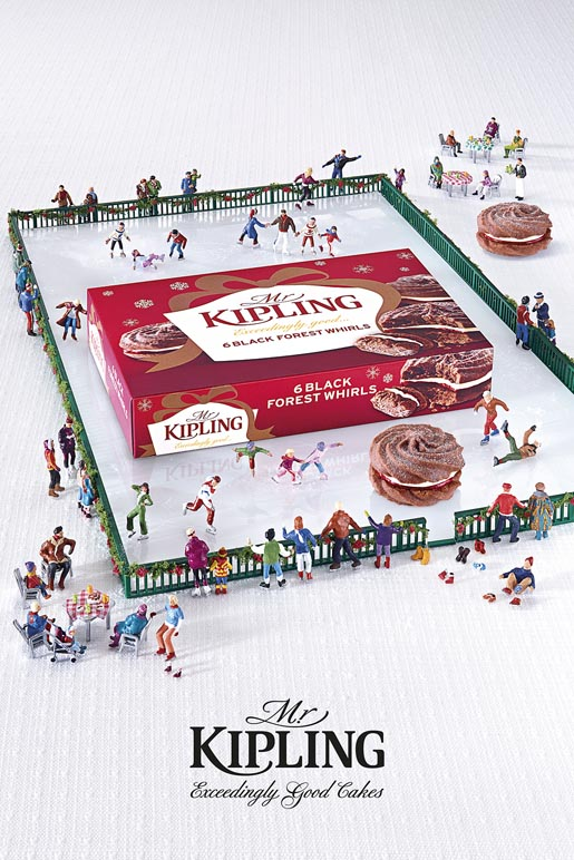 Mr Kipling Miniature Ice Skating