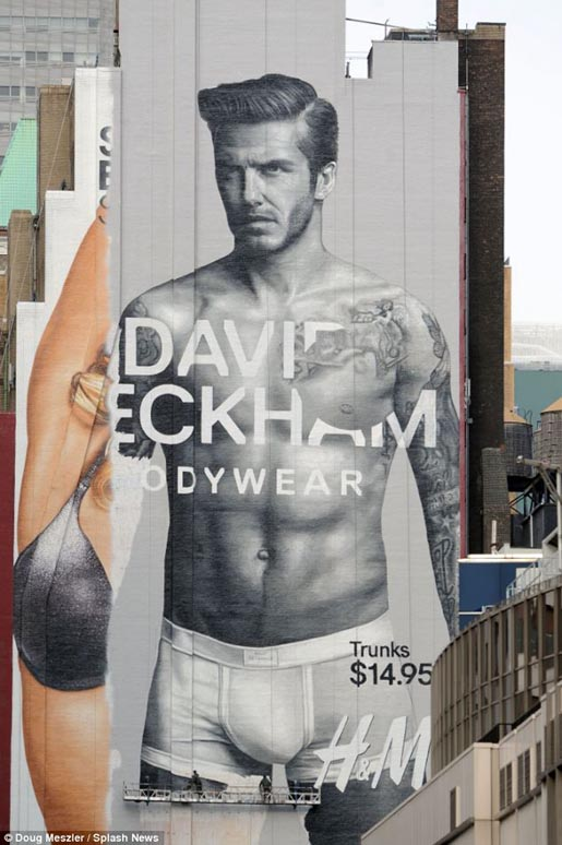David Beckham Bodywear Painting