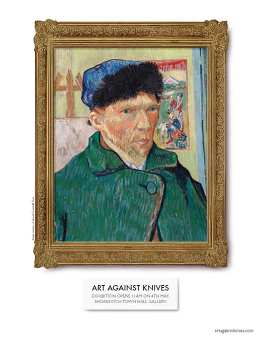 Art Against Knives Van Gogh framed