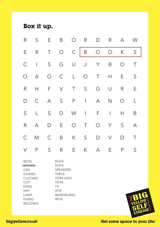Big Yellow Books Word Finder