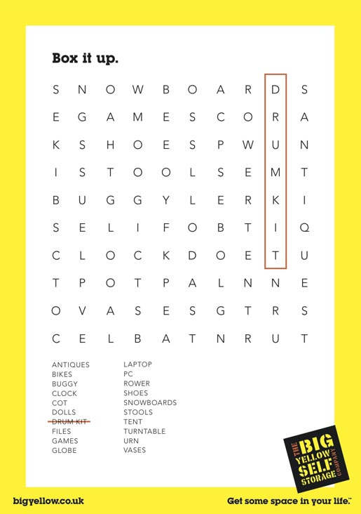 Big Yellow Drumkit Word Finder