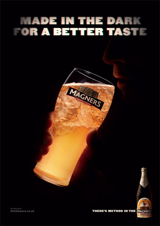 Magners Made In The Dark Drinking outdoor ad