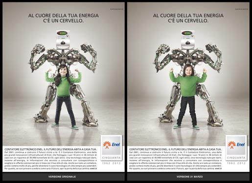 Enel print ad for Coordown