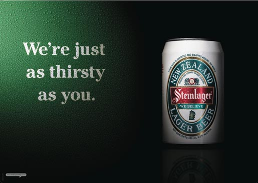 Steinlager We Believe - We're Just as Thirsty As You
