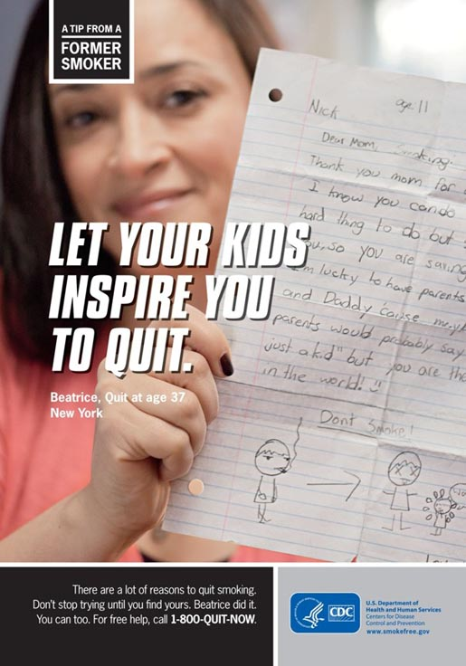 Tips from Former Smokers - take inspiration from your kids