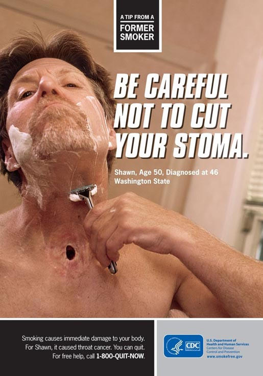Tips from Former Smokers - Shaving and Stoma