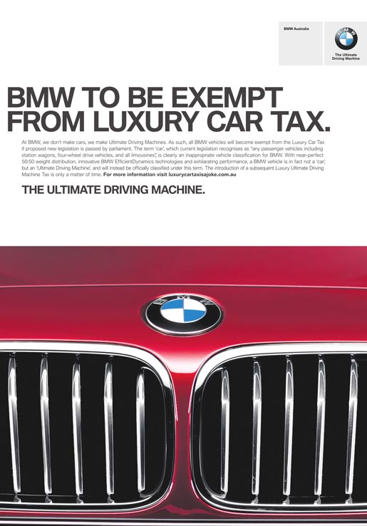 BMW Exempt from Luxury Car Tax