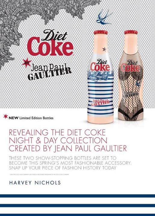 Diet Coke Jean Paul Gaultier Day and Night Harvey Nichols ad