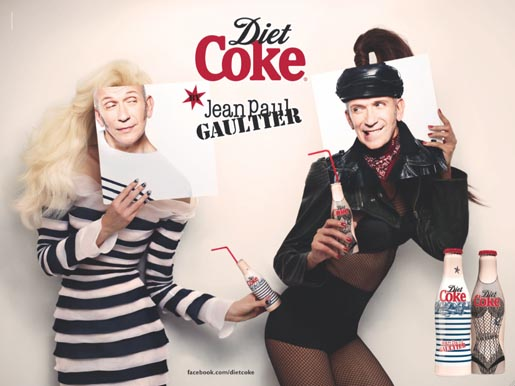 Diet Coke Jean Paul Gaultier Day and Night print ad