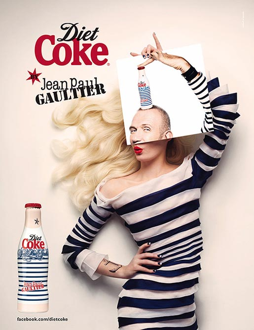 Diet Coke Jean Paul Gaultier Day print ad