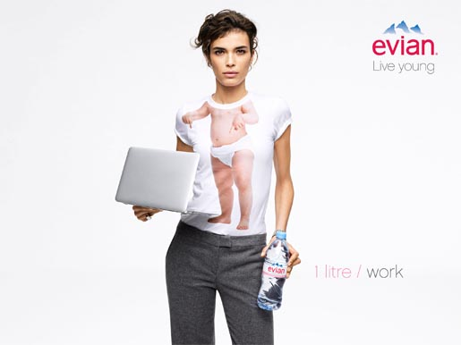 Evian Live Young Work