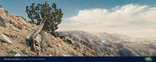 Land Rover Hajar Mountains print advertisement