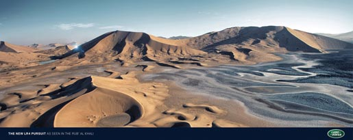 Land Rover Rub Al Khali print advertisement