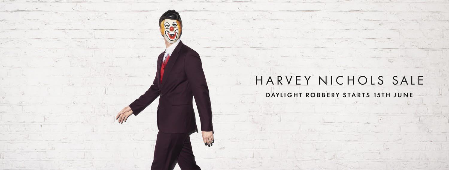 Harvey Nichols Daylight Robbery Clown