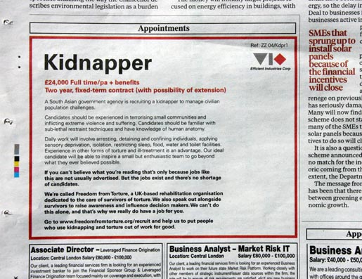 Independent Kidnapper Ad