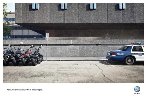 Volkswagen Bikers and Police Car