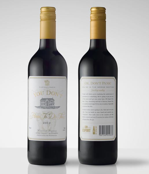 DB Export Dry Wine Bottle