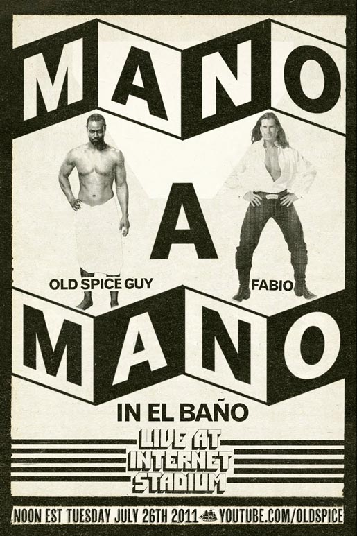 Old Spice Mano a Mano Poster
