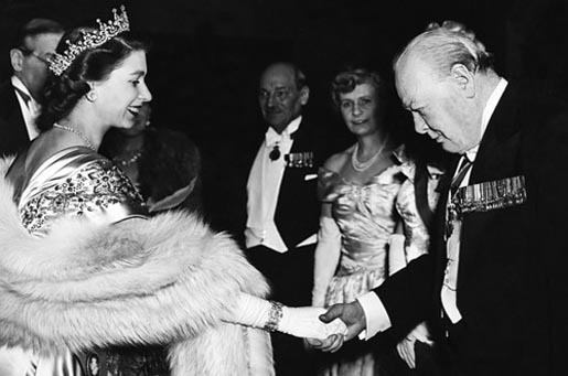 Princess Elizabeth and Winston Churchill