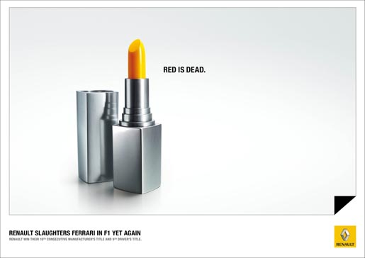 Red is Dead Lipstick print ad